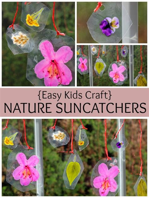 easy nature crafts for crafts for diy nature suncatchers preschool