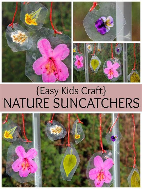 Crafts For Diy Nature Suncatchers Preschool