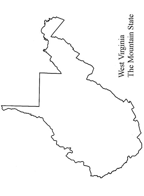 rubber st outline virginia state map outline maps map usa images free