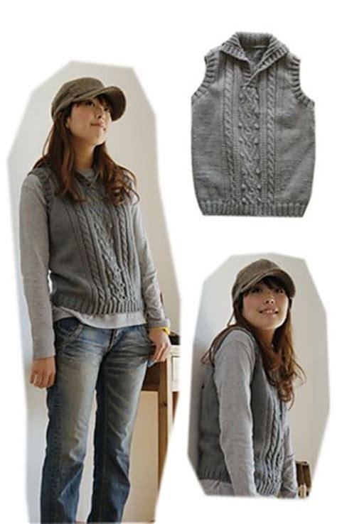 aran vest knitting pattern 25 best ideas about knit vest pattern on knit