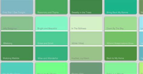 list of green colors shade blue to green color search website