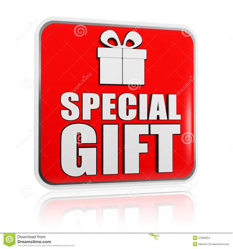 gift specials special gift banner with present box symbol stock