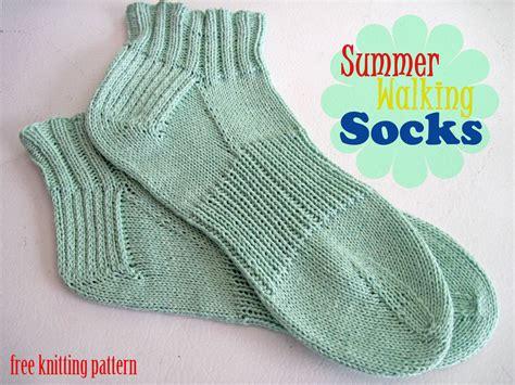 free knit sock patterns summer walking socks free knitting pattern