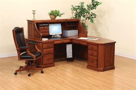 corner roll top desk corner roll top desk fifth avenue executive amish corner