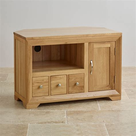 solid oak tv cabinet bevel small corner tv cabinet in solid oak oak furniture