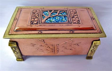 arts and crafts box for arts and crafts enamel copper and brass box c 1900 from