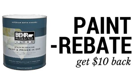 home depot paint rebate form paint rebate get 10 back southern savers