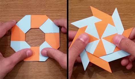 how to make a origami shuriken howto make retractable origami boing boing