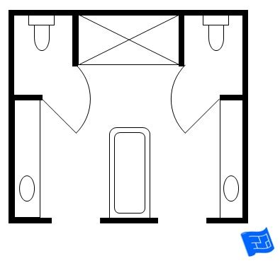 his and bathroom floor plans 10x10 bathroom layout pictures to pin on pinsdaddy