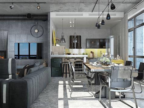 loft industrial industrial loft apartment design ideas with