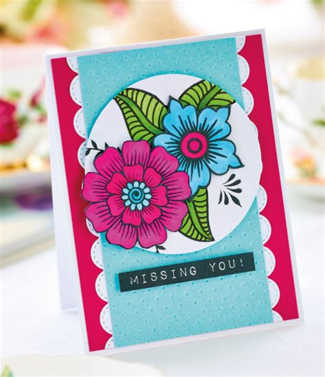 how to make a card free floral greeting card project free card downloads