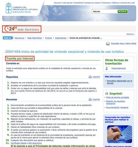sede electr nica oficina virtual 191 c 243 mo alquilar una vivienda de uso tur 237 stico en asturias