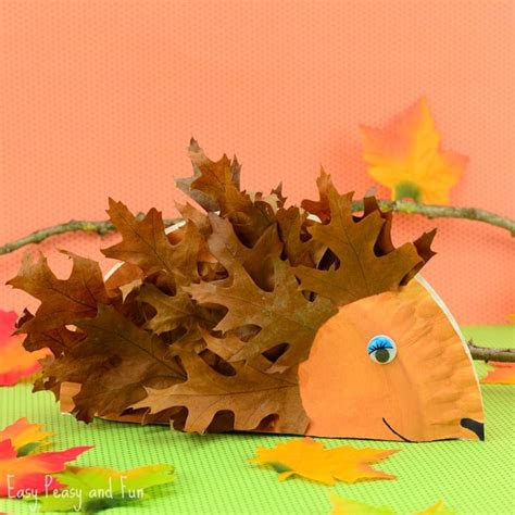 hedgehog paper plate craft paper plate hedgehog craft fall crafts for easy