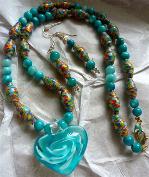 paper bead necklace pin by on paper