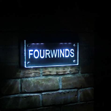 led house illuminated house signs tim