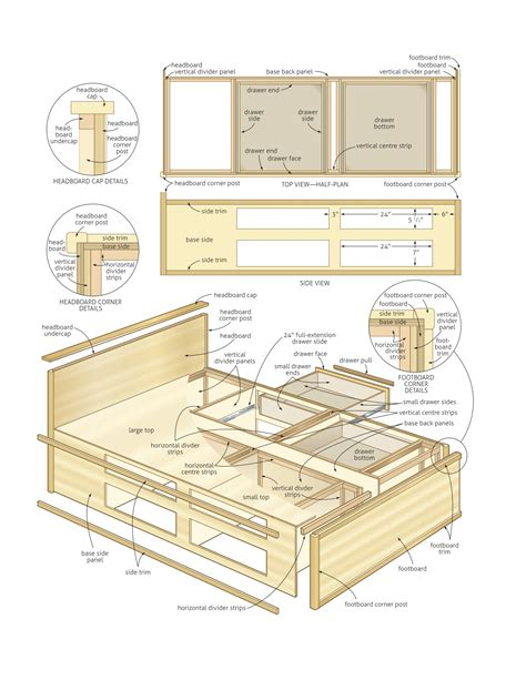 woodworking plans beds platform bed with storage woodworking plans 187 woodworktips