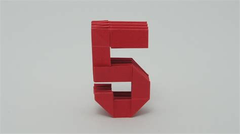 how to make origami numbers origami number 5