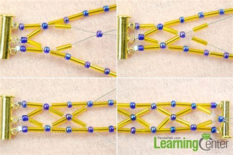 bugle bead patterns how to make a bugle bead bracelet with royalblue