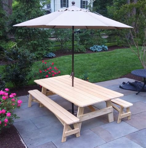 custom picnic tables custom 8 pine picnic table country furniture