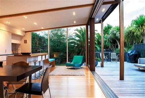 Living Dining Room Ideas auckland bungalow with modern glass and timber extension