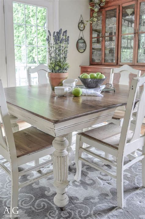 diy chalk paint dining table 38 diy dining room tables diy