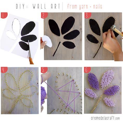 arts and crafts diy projects diy wall from yarn nails