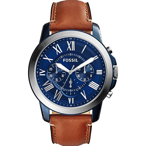 fossil watches with leather bands fossil s grant chronograph light brown leather fs5151 leather band jewelry