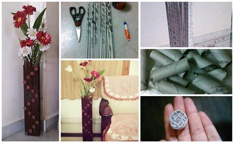 ideas to make diy make newspaper vase craft ideas