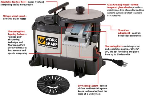 sharpening systems woodworking tools work sharp ws3000 wood tool sharpener home
