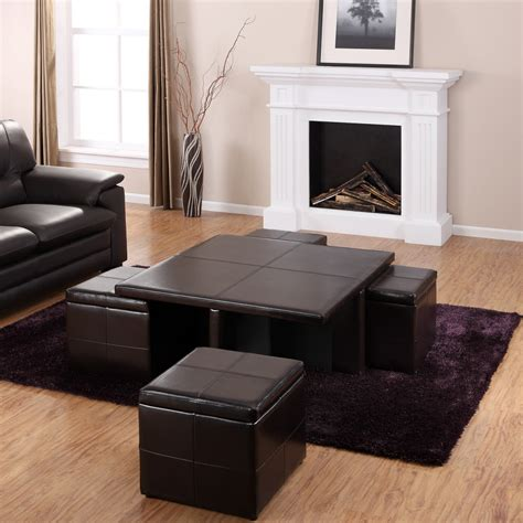 black living room tables furniture beautiful coffee table ottoman sets for living