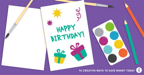 make yourself a card how to save money 94 creative ways to save money today