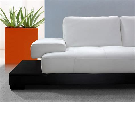 white sectional sofa leather dreamfurniture modern white leather sectional sofa
