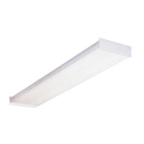 fluorescent kitchen light fixtures home depot lithonia lighting 4 ft wraparound fluorescent ceiling