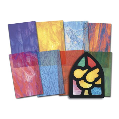 paper glass craft stained glass craft paper 24 sheets use with stained