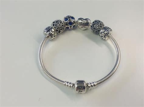 pandora bracelet stopper silver pandora bracelet with charms and stoppers catawiki