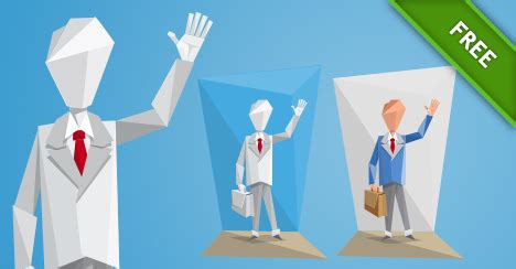character origami origami businessman in a suit vector characters