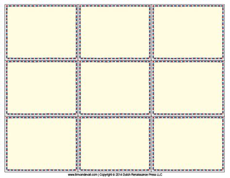 how to make printable flash cards printable blank flash card template