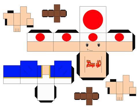 mario paper craft toad mario cubeecraft papercraft by marcokobashigawa