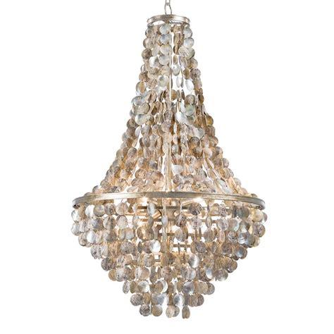 capiz shell chandelier salsberry coastal capiz disc shell chandelier