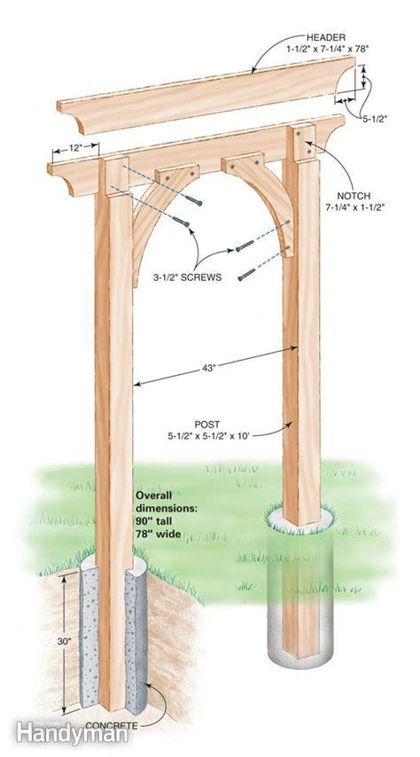 Garden Arch Parts Build A Garden Arch The Family Handyman