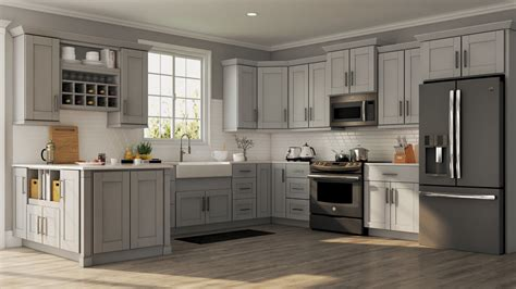 home kitchen furniture shaker base cabinets in dove gray kitchen the home depot