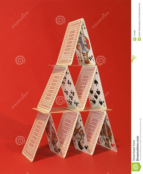 how to make board cards card tower stock photo image of king cards fiftteen