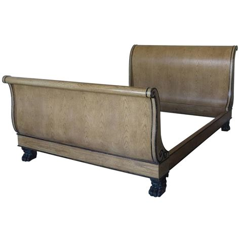 bed for sale vintage baker size sleigh bed for sale at 1stdibs