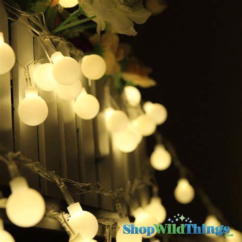 50 string lights warm white large led string lights 50 bulb strand