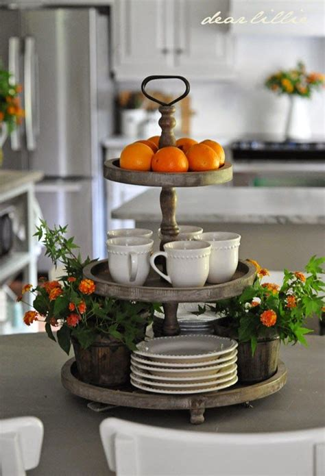 decorating a kitchen island 3 tier display for the kitchen island decor and trays