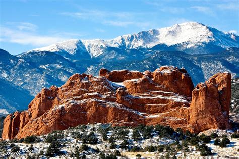 Garden Of The Gods Winter Camels Rock Garden Of The Gods Worth1000 Contests