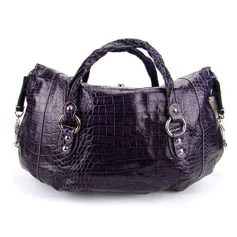 croc embossed leather handbags robe di firenze italian designer purple croc embossed leather handbag