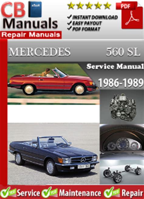 service repair manual free download 1989 mercedes benz e class lane departure warning mercedes 560sl 1986 1989 factory manual download service repair manuals