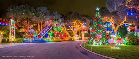 chirstmas lights snug harbor drive lights palm gardens
