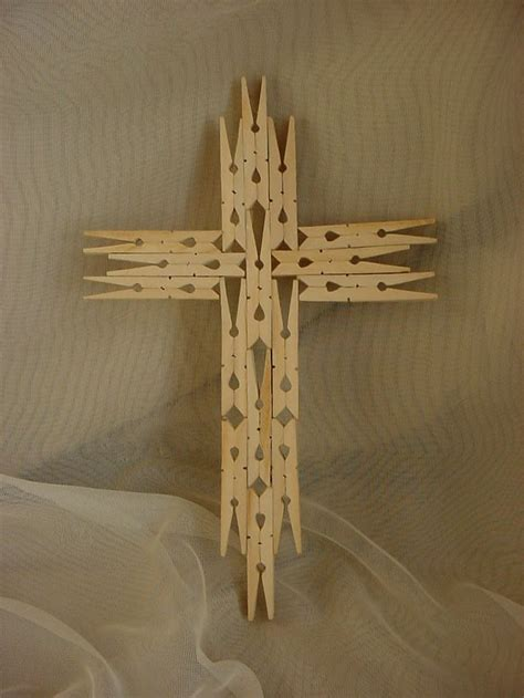 16 Best Photos Of Cross Made With Clothes Pins